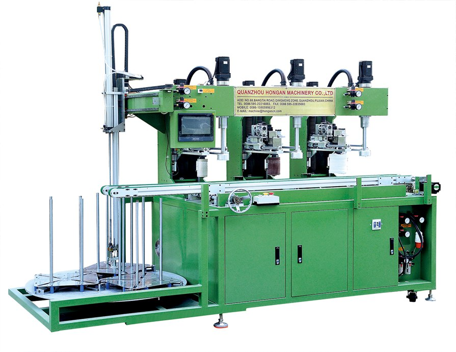 3 head tableware edge grinding machine