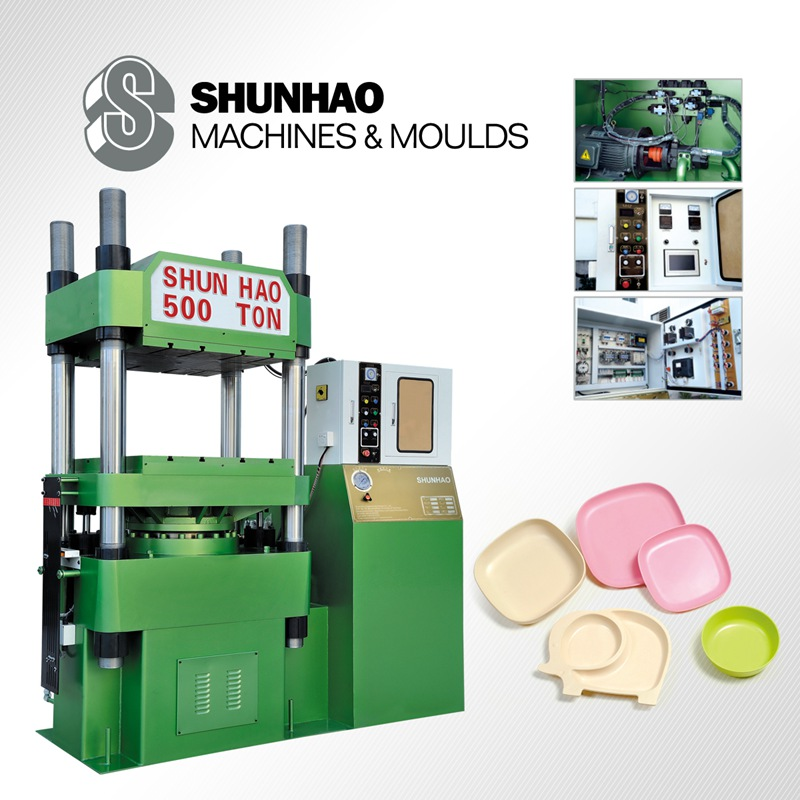 DTB500 single color automatic melamine tableware molding machine