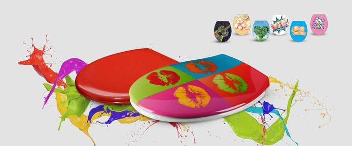 colorful urea toilet seat cover making